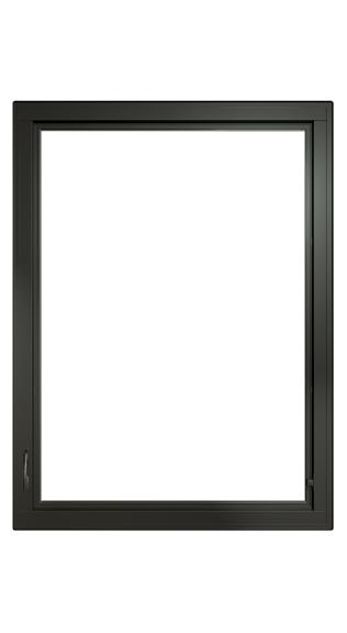 large black fiberglass casement window