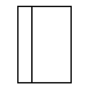configuration of single door with left sidelight
