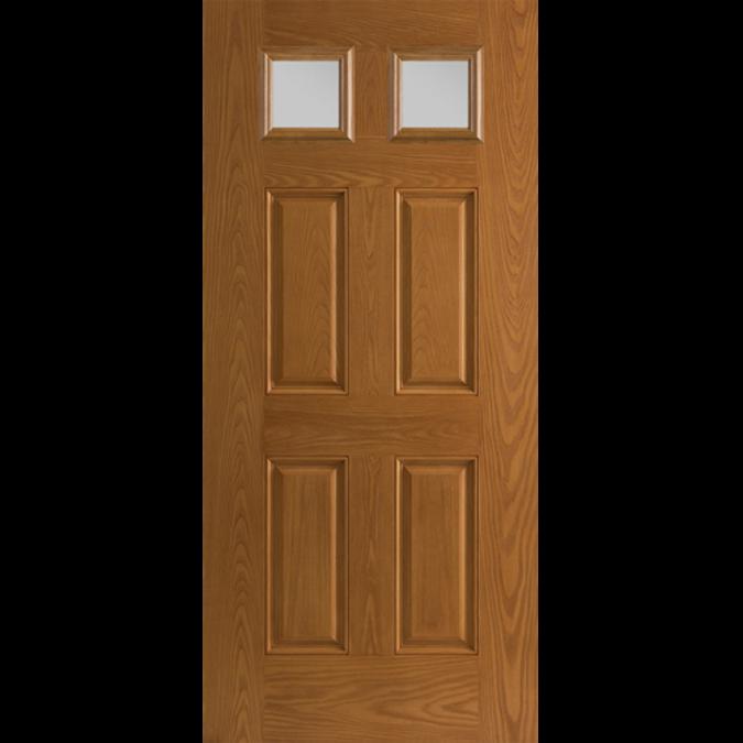 twin colonial light entry door wood grain