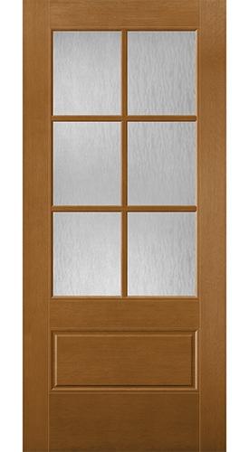 flush glazed 3/4 light entry door 3x2 grilles