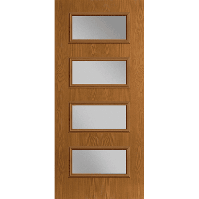 four light equal entry door