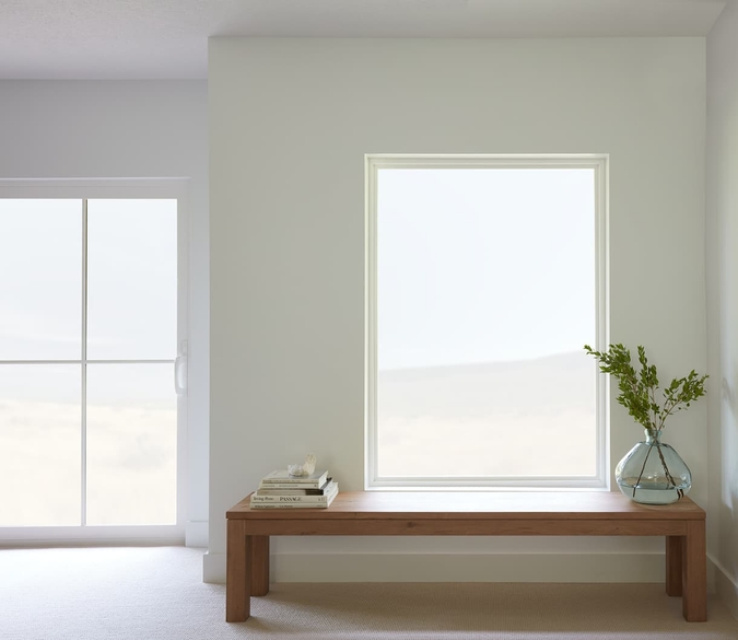 250 series picture window over a hall table
