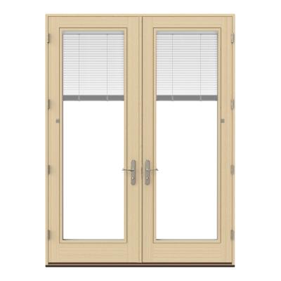 hinged patio door blinds and shades satin nickel hardware