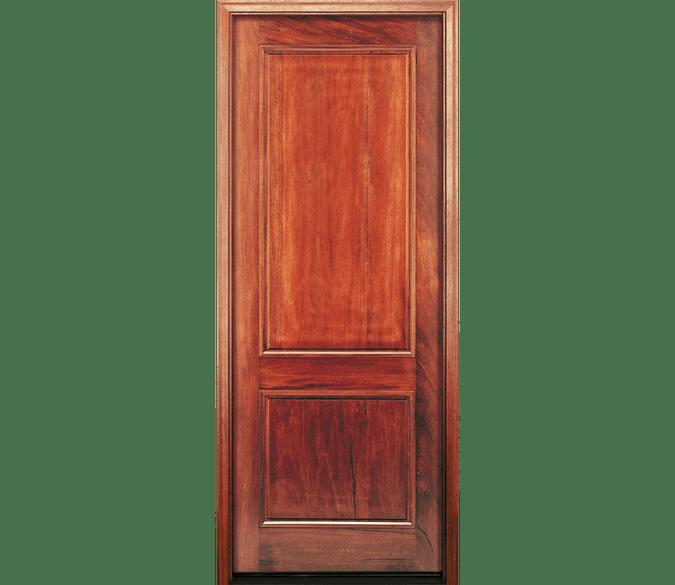 2 panel wood entry door