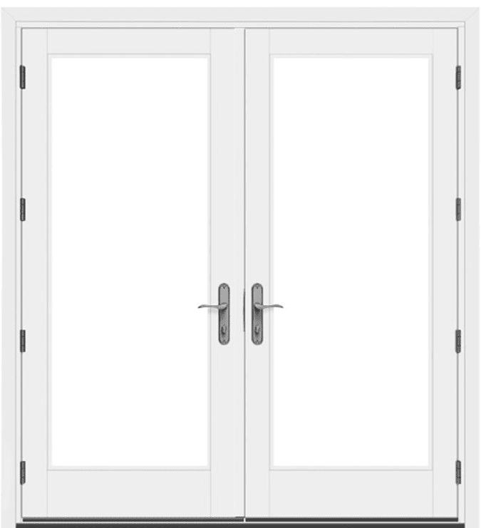 white architect series traditional hinged door