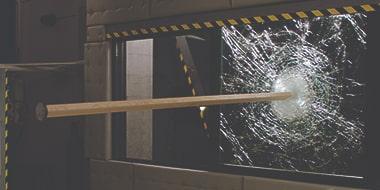 hurricane shield testing wood beam into window