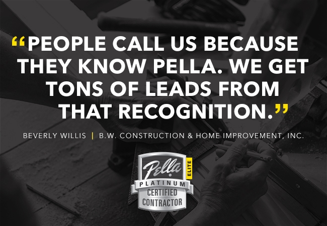 Quoting Beverly Willis about Pella name recognition.