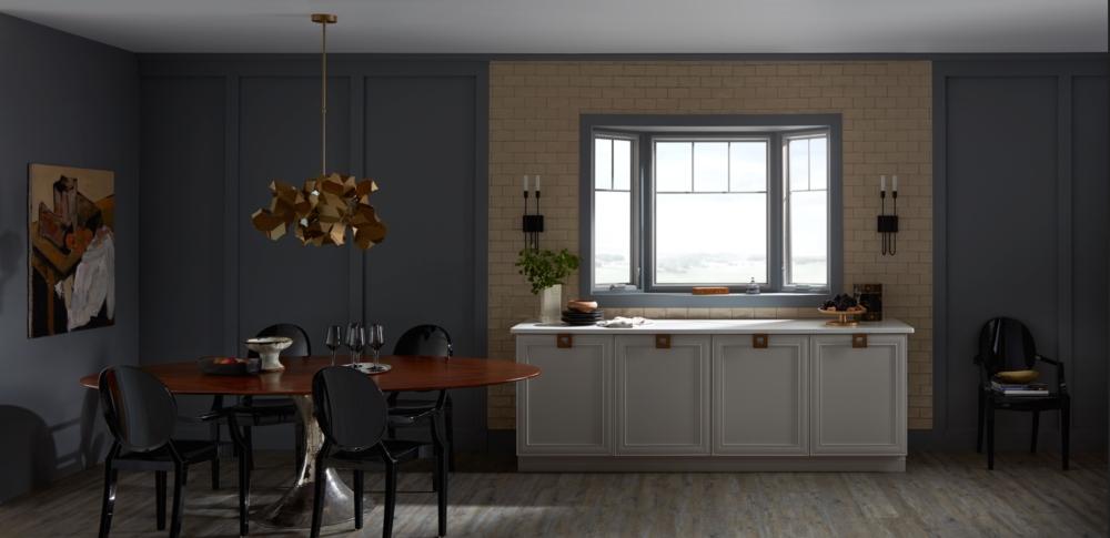 pella architect series bay dining room window