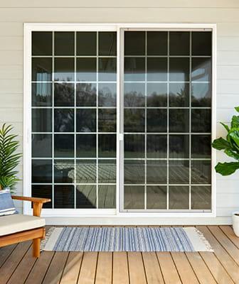 illustration of a patio door