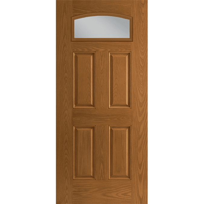 fan light camber top entry door