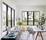 contemporary office with six impervia casement windows