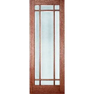 wood entry door grille patterns 9 light prairie