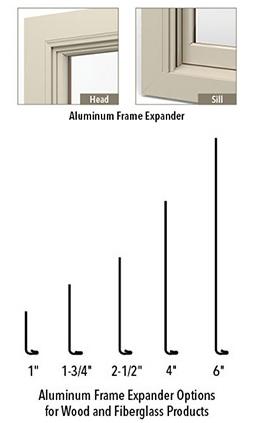 frame expanders aluminum frame