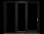 reserve contemporary multi-slide door in black