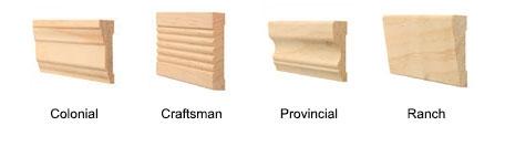 four trim styles for wood windows