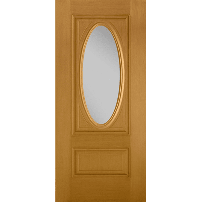 3/4 oval light entry door with glass