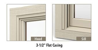 "rough smooth wood 3 1/2"" flat casing"