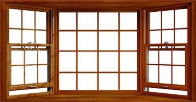 wood bay window