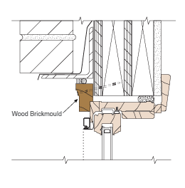 wood brickmould technical illustration