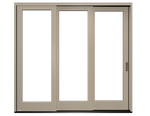reserve traditional multi-slide patio door exterior with a tan finish