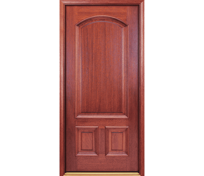 3 panel arch wood entry door