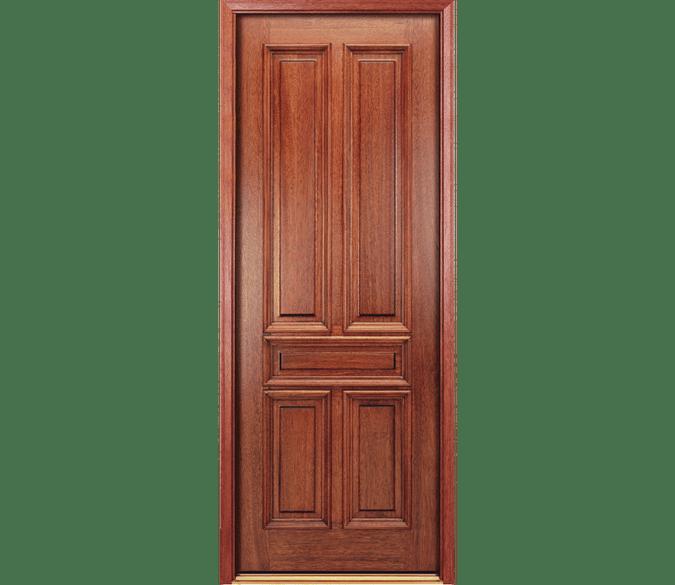 solid 5 panel wood entry door