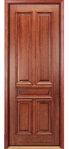 solid wood entry door two panel