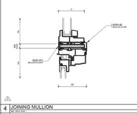 The Rose horizontal mullion window drawing.