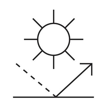 drawing sun defense low-e glass icon