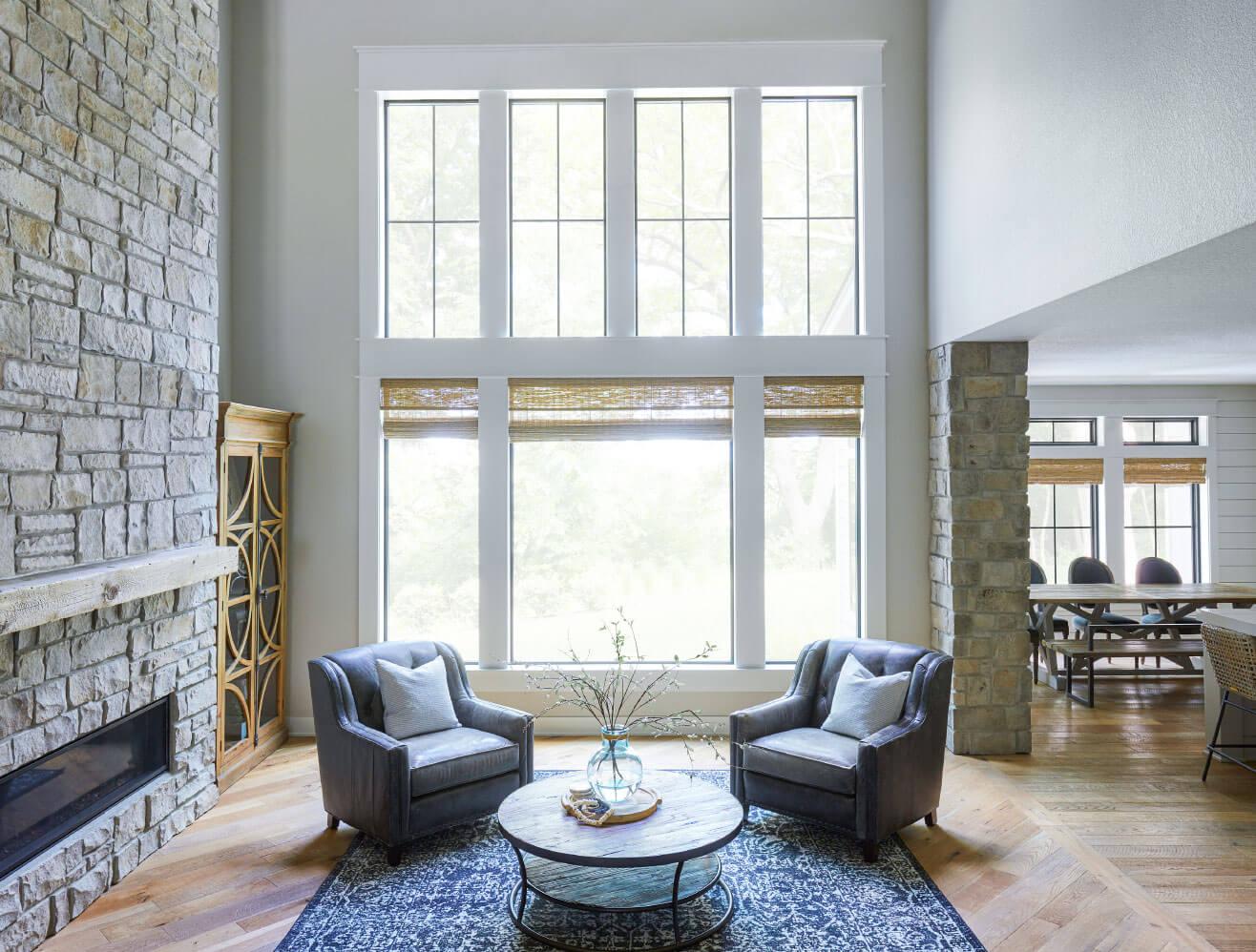 big windows in a living area