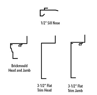 traditional trim and sill profiles - wood installation