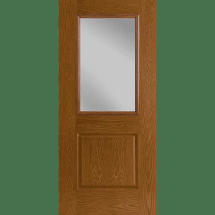 half light 1 panel entry door