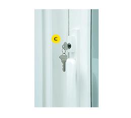 exterior keylock for vinyl sliding patio doors