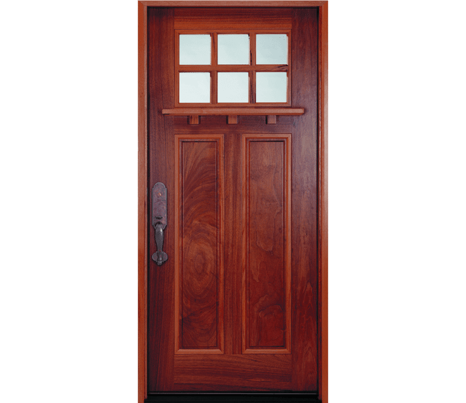 craftsman light entry door cut out background