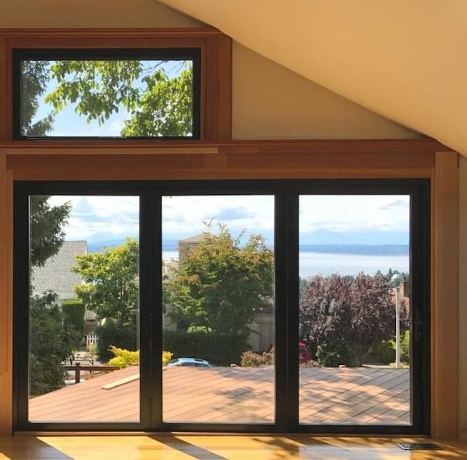 Opening Seattle Home Bifold Patio Door Pella