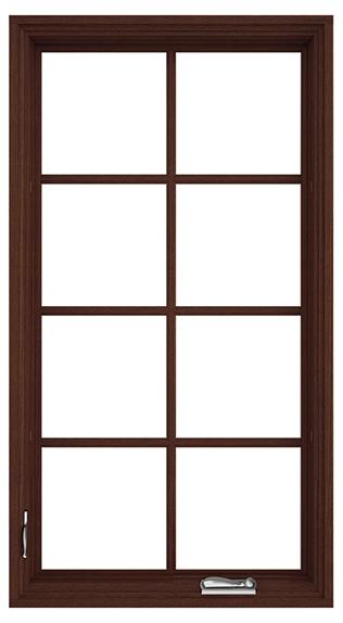 wood casement window traditional grilles satin nickel hardware