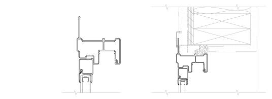 technical drawing of fiberglass flush flange