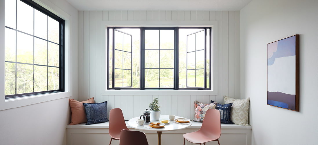 lifestyle series fixed window surrounded by two casement windows