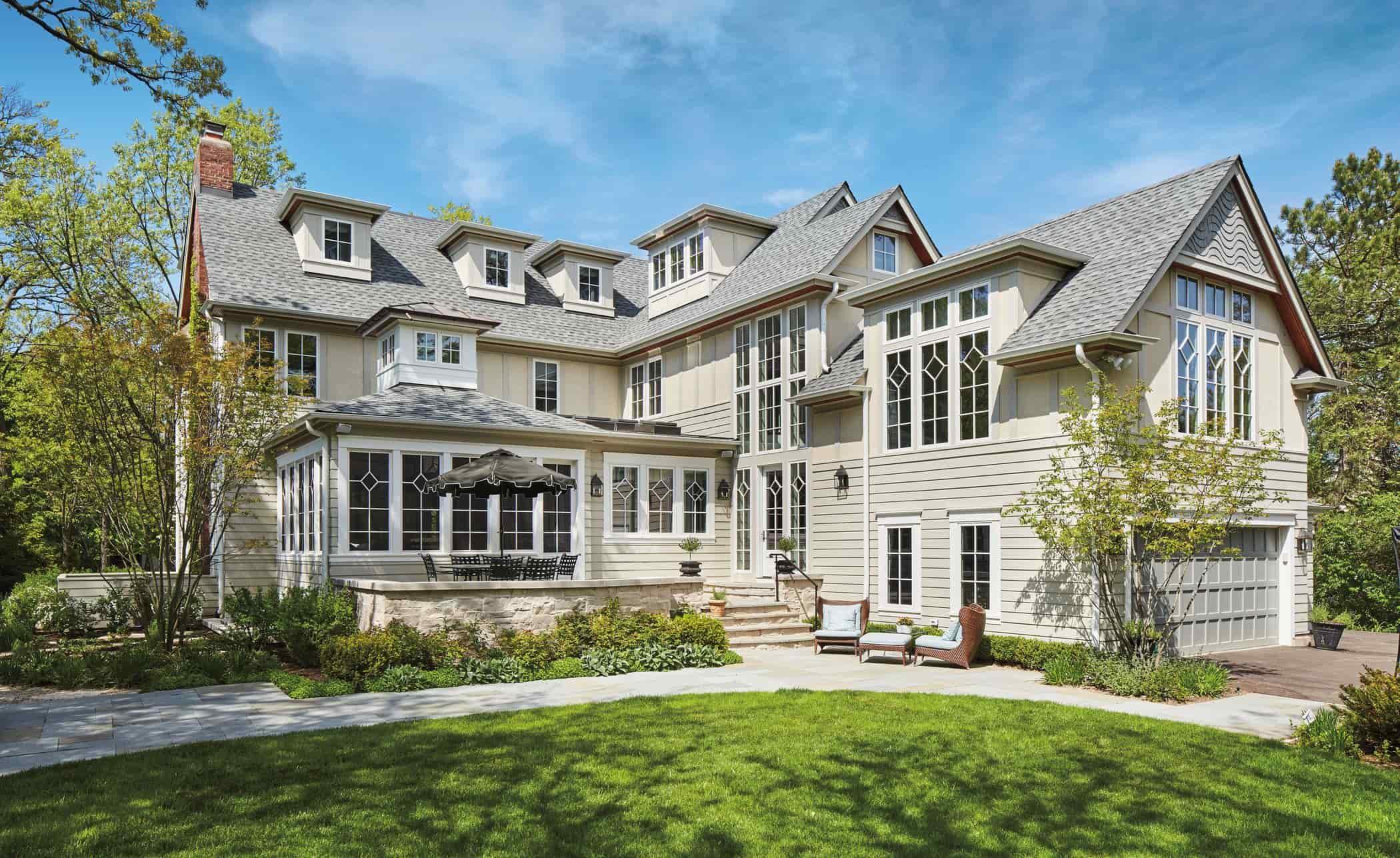 Elegant custom built home with custom windows