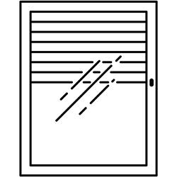 identify my window icon casement window with blinds