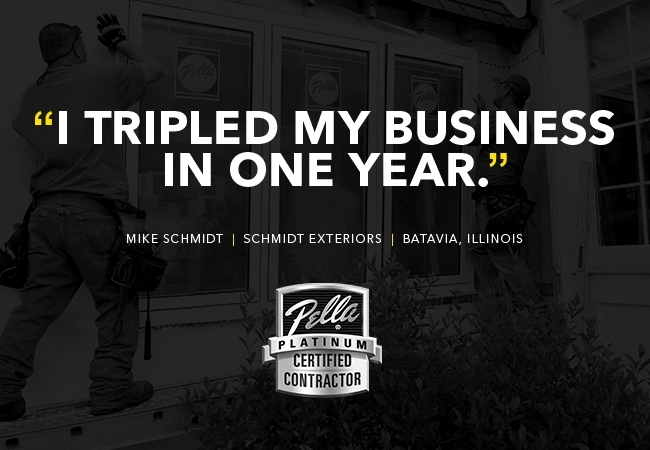"""Quote saying """"I tripled my business in one year""""."""