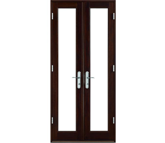 black custom patio door narrow width satin nickel hardware