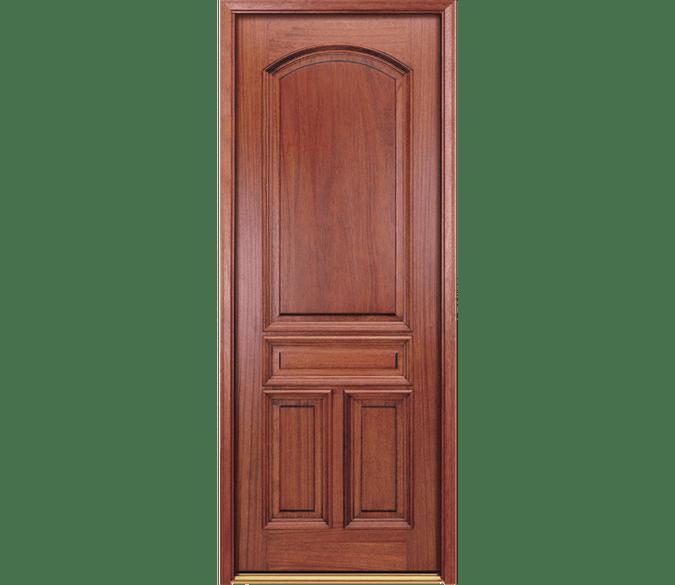 4 panel arch wood entry door