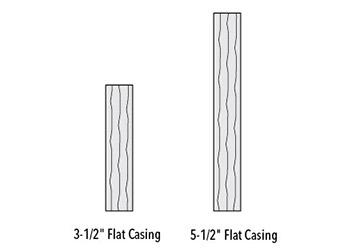 rough smooth flat casing