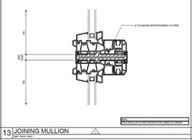 St. Paul Plaza joining mullion drawing.