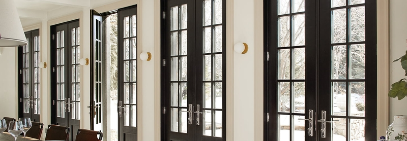 chrislovesjulia custom dining room with custom patio doors