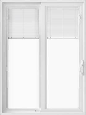 250 series sliding patio door with blinds between-the-glass