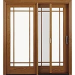 image of traditional sliding door with screen