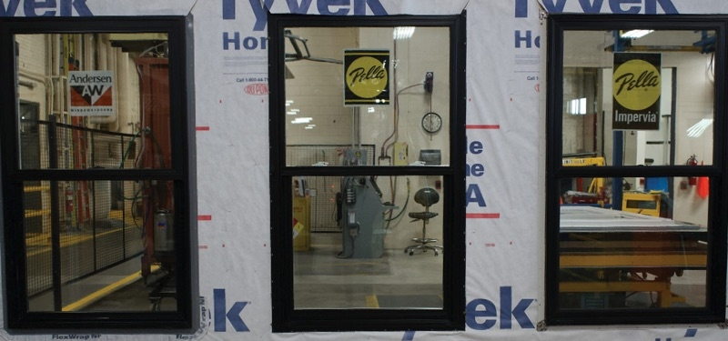 three windows for testing andersen fibrex pella impervia fiberglass