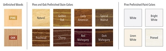 wood swatches for interior finishes